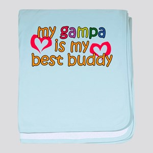 Gampa is My Best Buddy baby blanket